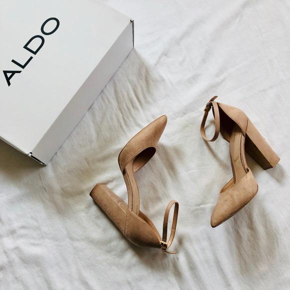 7b20c9cca3fd ALDO Shoes - Aldo- Nicholes Block Heel Nude